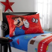 Nintendo Super Mario Caps Off Twin Sheet Set