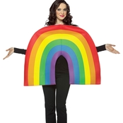 Morris Costumes Adult Rainbow Tunic