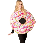 Morris Costumes White Frosted Donut Tunic