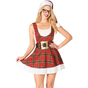 Morris Costumes Hipster Ms. Claus Romper Dress