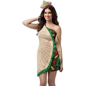 Morris Costumes Taco Foodie Dress