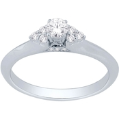 10K White Gold 1/3 CTW Diamond Ring