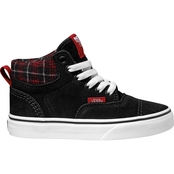 Vans Boys Era Black Flannel High Top Sneakers