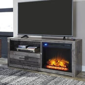Ashley Derekson TV Stand with Fireplace Insert