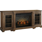 Ashley Flynnter TV Stand with Fireplace Insert