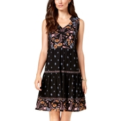 Style & Co. Petite Printed Tiered Peasant Dress
