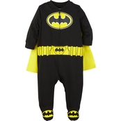 DC Comics Infant Boys Hooded Batman Caped Sleep and Play