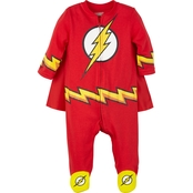 DC Comics Infant Boys Flash Caped Sleep and Play