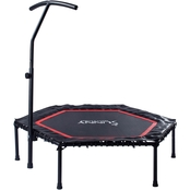 Sunny Health & Fitness Hexagon Trampoline with Adjustable Handlebar No. 079