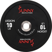 Sunny Health & Fitness Olympic Bumper Weight Plate 10 lb.