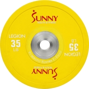 Sunny Health & Fitness Olympic Bumper Weight Plate 35 lb.