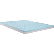 Independent Sleep GEL Memory Foam: Convoluted Combination 5 Zone Mattress Topper