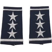 Air Force Lieutenant General, Shoulder Marks Slide-On, Small