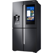 Samsung 22 cu. ft. Counter Depth 4-Door Flex Family Hub Refrigerator