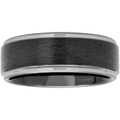 Tungsten Black Ion Plated Band with Frozen Satin Center
