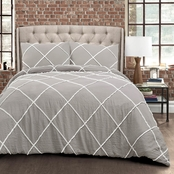 Lush Decor Diamond Pom Pom Comforter Set