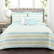 Lush Decor Sealife Stripe Comforter Set