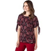 Michael Kors Sweetheart Paisley Top
