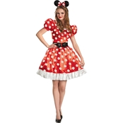 Morris Costumes Women's Red Minnie Classic Costume