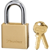 Master Lock 1-1/2 in. Wide Solid Brass Body Padlock