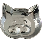 Our Pets Metal Shield Kitty Face Dish