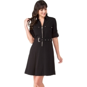 Michael Kors Lock Zip Shirt Dress