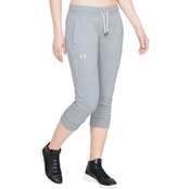 Under Armour Cotton Fleece Slim Leg Crop Pants
