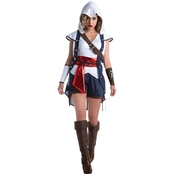 Morris Costumes Living Fiction Assassin's Creed Connor Women's Costume