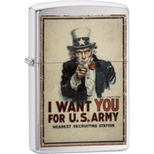 Zippo Uncle Sam Army Recruiting Poster Lighter