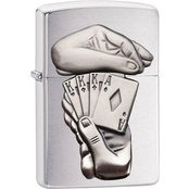 Zippo Full House Emblem Lighter