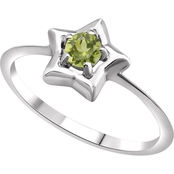 Karat Kids 14K Gold Imitation Peridot Youth Star Ring, Size 3