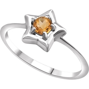 Karat Kids 14K Gold Imitation Yellow Topaz Youth Star Ring, Size 3