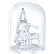 Swarovski Pine Tree and Stag Bell Jar