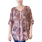 Style & Co. Plus Size Flutter Sleeve Blouse