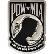 Chrome Domz POW/MIA Embossed Wall Art