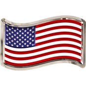 Chrome Domz U.S. Flag Embossed Wall Art