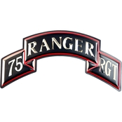Chrome Domz Army Rangers 75th Embossed Wall Art Scroll
