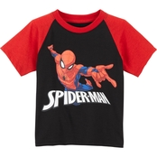 Marvel Toddler Boys Spider-Man Raglan Tee
