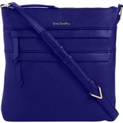 Vera Bradley Mallory Triple Zip Hipster, Gage Blue