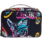 Vera Bradley Iconic Large Blush & Brush Case, Butterfly Flutter