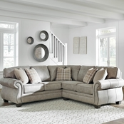 Signature Design by Ashley Olsberg 2 pc. Sectional RAF Sofa with Wedge/LAF Loveseat