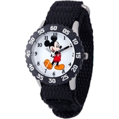 Disney Kids Mickey Mouse Stainless Steel Time Teacher Watch W001574
