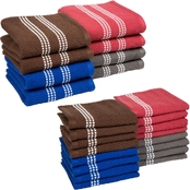 Lavish Home 100% Combed Cotton Dishcloth and Dishtowel 24 pc. Set