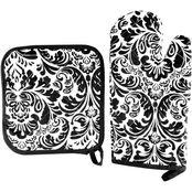 Lavish Home Oven Mitt and Potholder Set