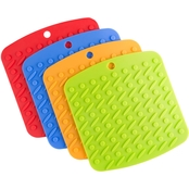 Lavish Home Silicone Potholder 4 pc. Set