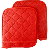 Lavish Home Oversized Heat Resistant Quilted Cotton Potholder 2 pk.