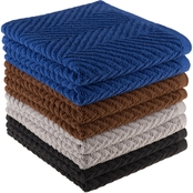 Lavish Home Zigzag Dobby Weave Cotton Dishtowel 8 pk.