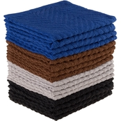 Lavish Home Chevron Dobby Weave Cotton Dishcloth 16 pk.