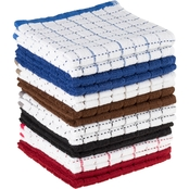 Lavish Home Windowpane Dobby Weave Cotton Dishcloth 16 pc. Set