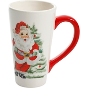 Gibson Home Joyful Santa Latte Mug 22 oz.